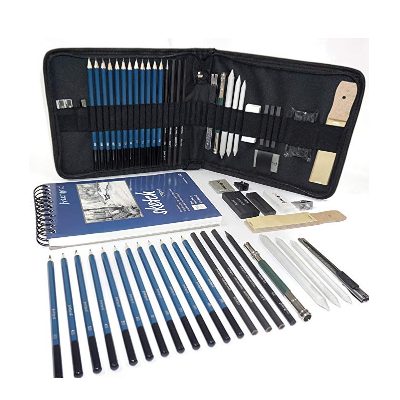 Professional Art Set - Drawing, Sketching and Charcoal Pencils